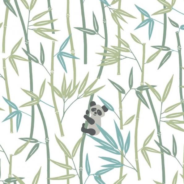 "Сменный чехол Theraline 190 см (""Бамбук и панда"" белый)"