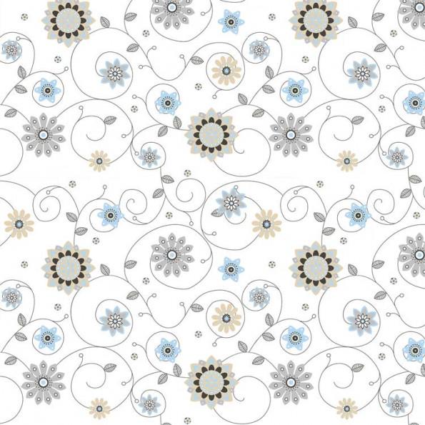 Сменный чехол для подушки 170 Цветы экрю