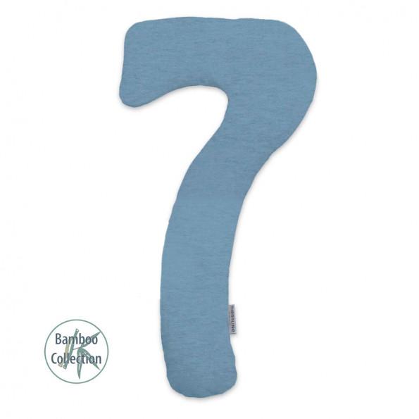 Подушка для всего тела Theraline Му7 меланж бамбук серо-синий