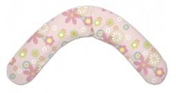 092. Подушка для беременных Theraline 190 см цветы (розовая)