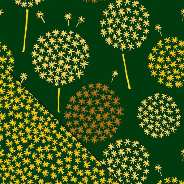 Сменный чехол для подушки Theraline 190 см Одуванчик темно-зеленый