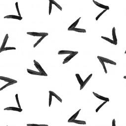 Чехол Галочки черно-белый для подушек для беременных 190