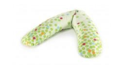 Подушка для беременных Theraline 170 см (Кружки зеленая)