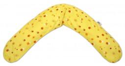 Подушка для беременных Theraline 190 см (поляна желтая)