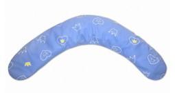 Недорогая подушка для беременных  Dodo 170 см (голубая с рисунком)