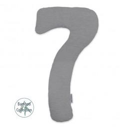 Подушка для всего тела Theraline Му7 Jersey меланж бамбук серая
