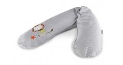 Подушка для беременных Theraline с объемной вышивкой 190 см Лев серый