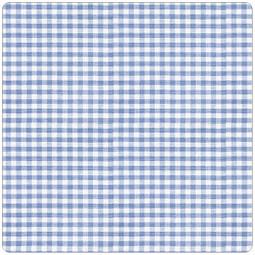 Сменный чехол для подушек 190 см Клеточка голубой