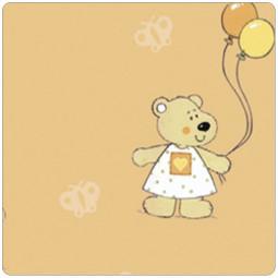 Чехол для подушек для беременных 190 Медведь и бабочки абрикос