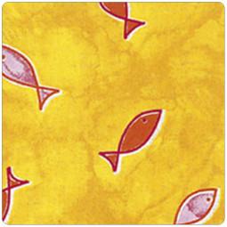 Сменный чехол для подушки 170 Рыбки желтый