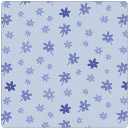 Сменный чехол для подушек 190 цветочки голубой