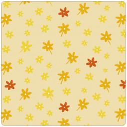 Сменный чехол для подушки 170 Цветочки желтый