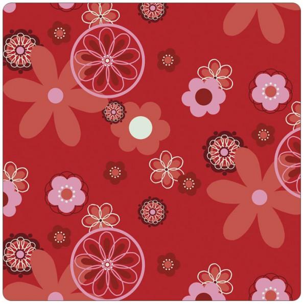 Сменный чехол для подушки Theraline 190 (цветочки красный)