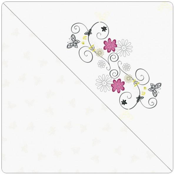 Чехол Арт-декор цветочки кремовый для подушки для беременных 190