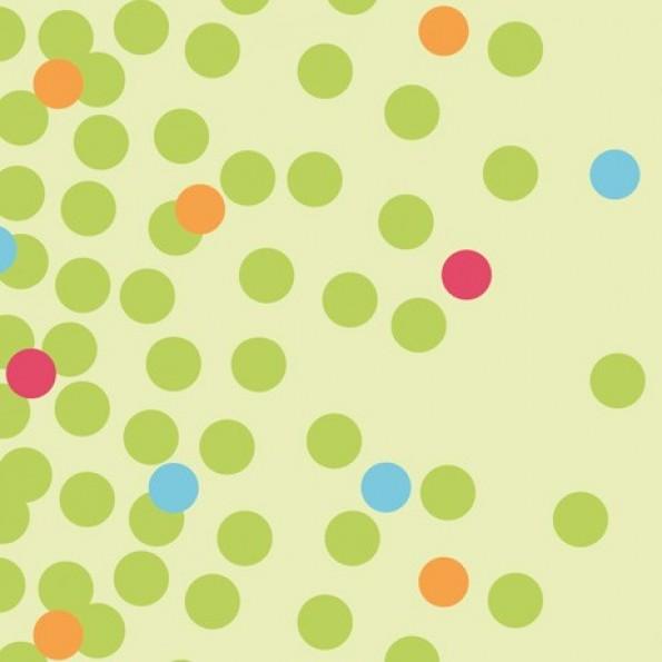 Сменный чехол для подушки 170 (кружки зеленые)