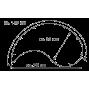 Подушка Theraline 135 см инь-ян (Кружки фиолетовая)