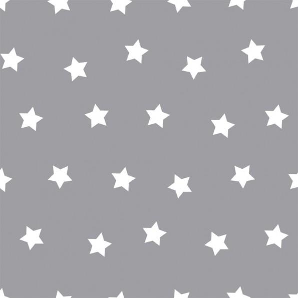 Сменный чехол для подушки 170 Звезды серый