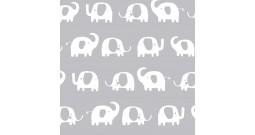 Сменный чехол для подушки 170 (слоники серый)