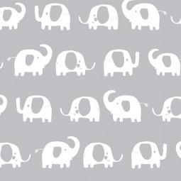 Сменный чехол для подушки 170 Слоники серый