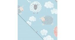 """Сменный чехол для подушки Theraline 190 (""""Счастливые овечки"""" голубой)"""