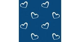 Сменный чехол для подушки 170 (сердечки синий)