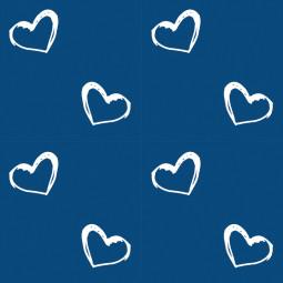 Сменный чехол для подушки Theraline 170 Сердечки синий