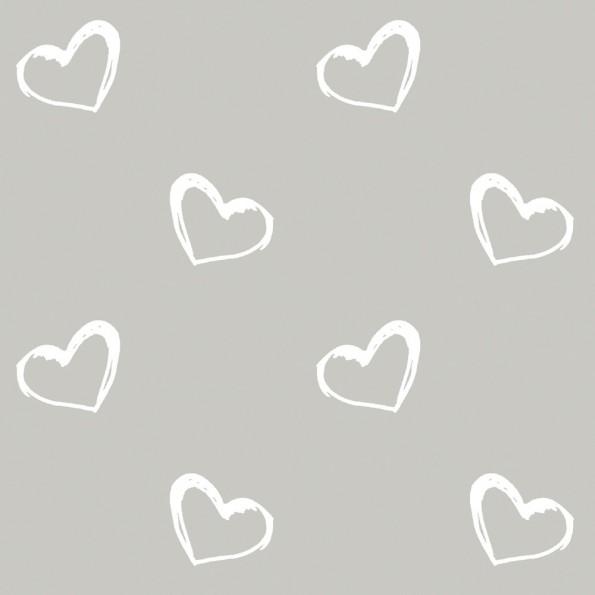 Сменный чехол для подушки 170 (сердечки серый)