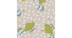 Сменный чехол для подушки 170 (совы бежевый)
