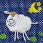 Подушка для беременных Theraline 190 см Овечка синяя