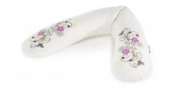 Подушка для кормления Theraline 190 см Арт-Декор Цветочки кремовая